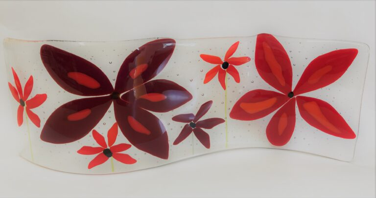 Made at Fusing Ideas workshop - bold flowers serpentine