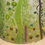 Green curved glass Fusing Ideas workshops
